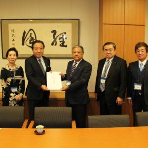 野田佳彦・木村哲也衆議院を訪問し税制改正要望を実施。